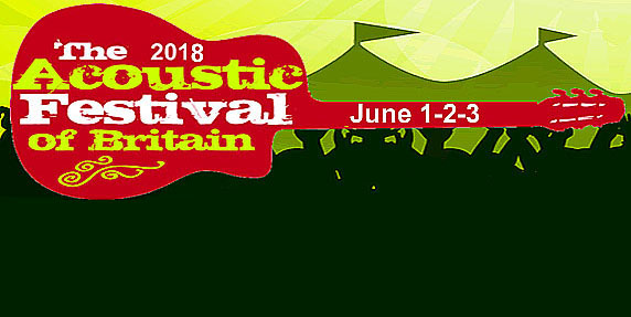The Acoustic Festival of Britain 2018 – 1st, 2nd, 3rd June – Uttoxeter Racecourse, Staffordshire