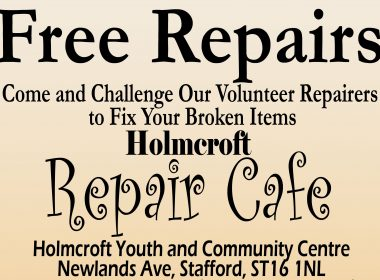 Free Repairs at the first Holmcroft, Stafford Repair Cafe