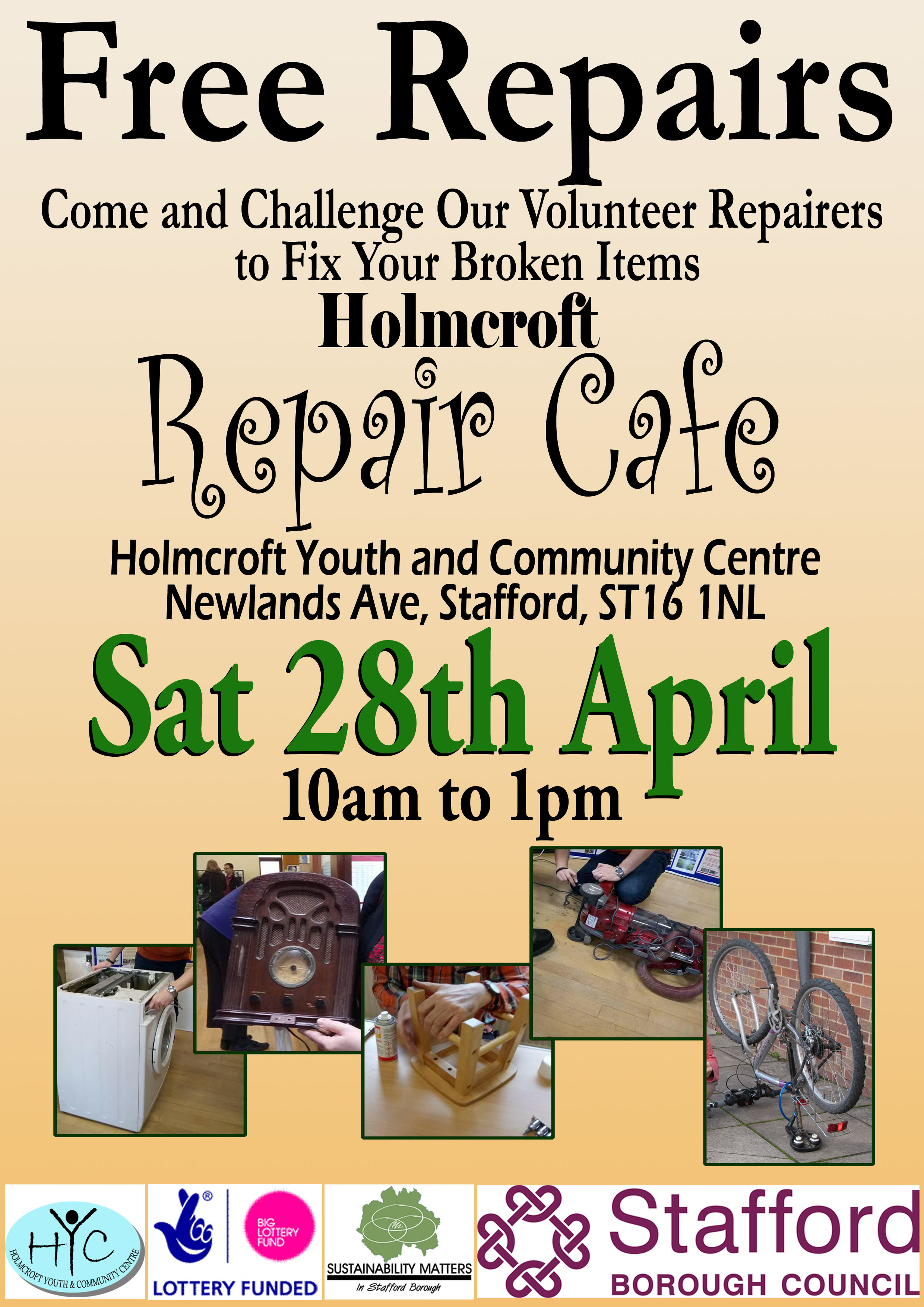 Repair Cafe Holmcroft Poster - version 3 copy