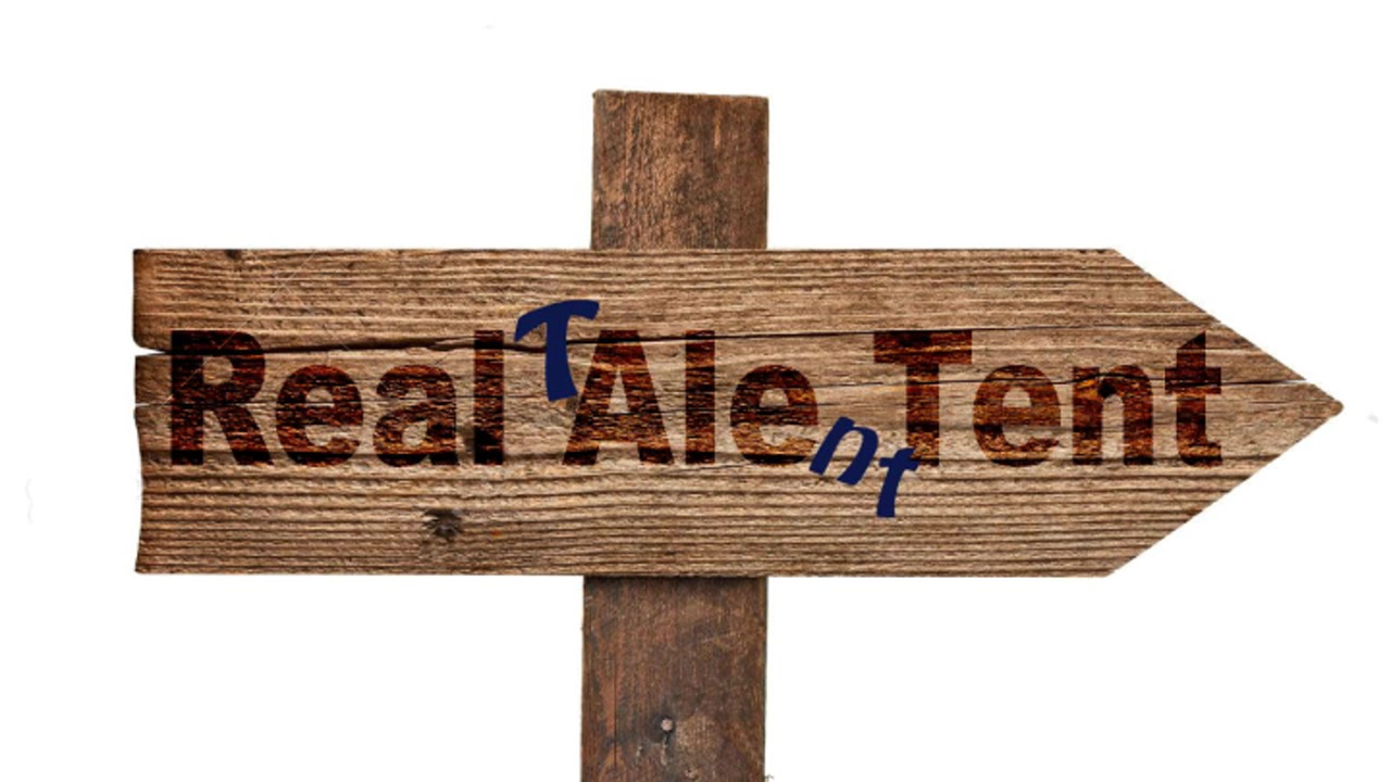 The Real Talent Tent Signpost
